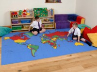 World Map Rug