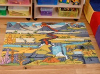 Dinosaur Landscape Playmat