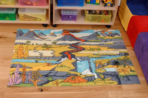 Dinosaur Landscape Playmat Sport And Playbasesport And