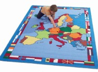 Europe Map Rug