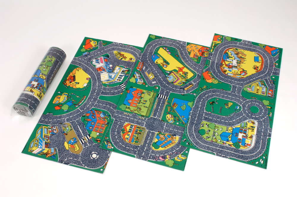 Set Of 3 Roadway Playmats Sport And Playbasesport And