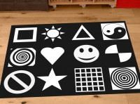 Black and White Nursery Playmat