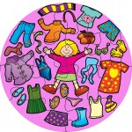 Girls Clothes Jumbo Puzzle 1