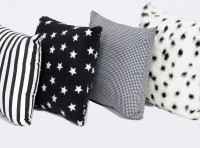 Black And White Cushions Set Of 4