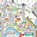 Winter Roadway Playmat 1