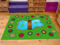 Classroom Playmat FROG AND BUTTERFLY LIFECYCLE