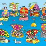 1-10 Mouse Boat Race Playmat 1