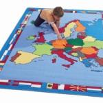 Europe Map Rug 1