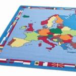Europe Map Rug 3