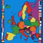 Europe Map Rug 4