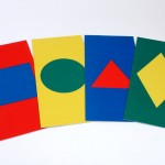 Set 4 Coloured Shapes Mats 2