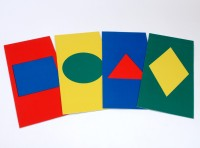 Set 4 Coloured Shapes Mats
