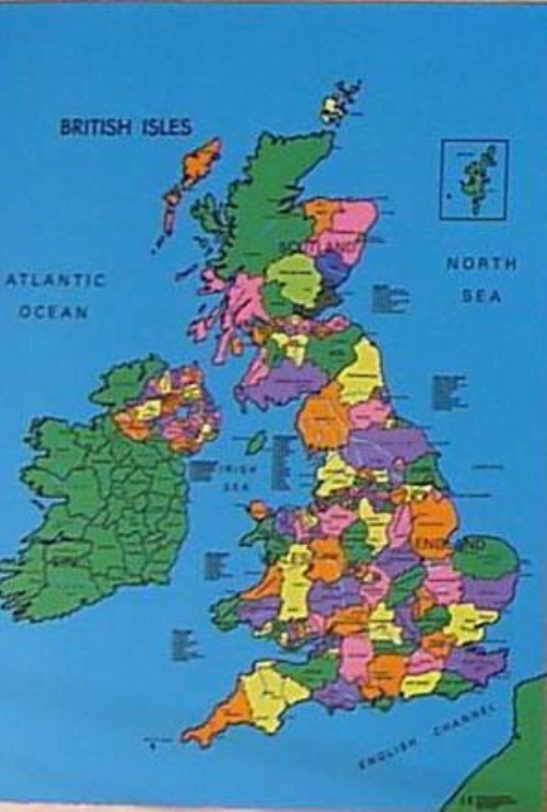 Political Map Of Uk.British Isles Map Cloth Sport And Playbasesport And Playbase