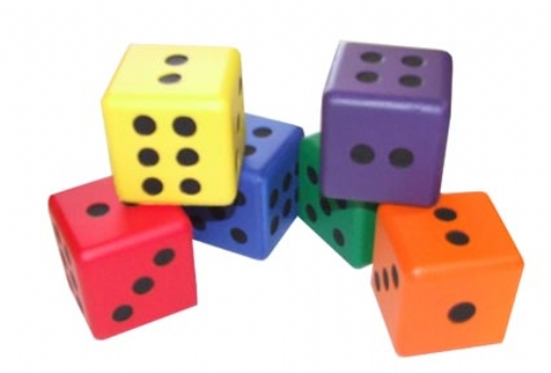 Set 6 Foam Rainbow Dice Sport And Playbasesport And Playbase