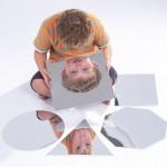 Set of 6 Geometric Shape Mirrors 1