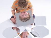 Set of 6 Geometric Shape Mirrors