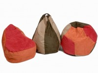 Suede Pear Bean Bag