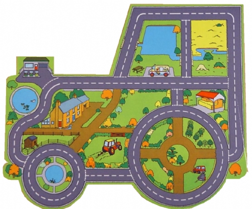 Tractor Farm Playmat Sport And Playbasesport And Playbase