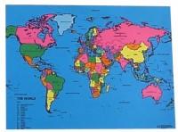 World Map Mat