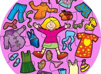 Girls Clothes Jumbo Puzzle