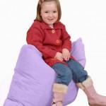 Large Fibre Floor Cushion – Lavender 1