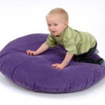 Large Round Floor Cushion – Purple 1