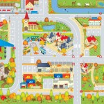 Autumn Roadway Playmat 1