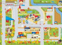 Autumn Roadway Playmat