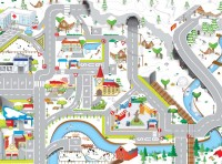 Winter Roadway Playmat