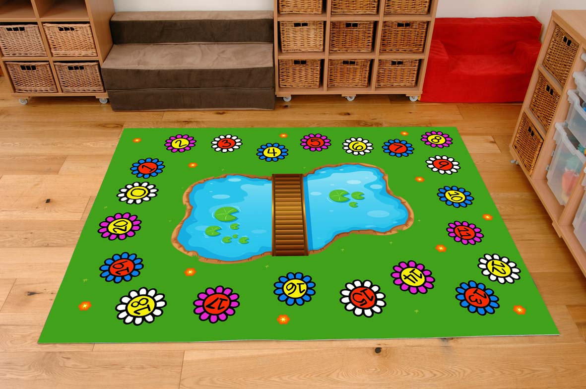 Classroom Playmat Numbers In The Park Sport And