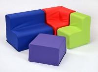 Rainbow Cotton Toddler Corner Chair