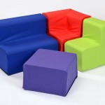 Rainbow Cotton Toddler Sofa 2