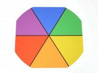 Summer Colour Wheel Outdoor Mat