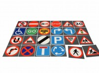 Road Sign Tiles Set Of 24